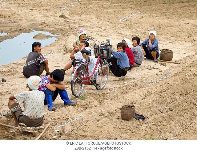 Women Resting After Work, Kaesong, North Korea