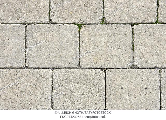 Ground paved with cobblestones, background