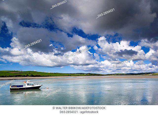 Ireland, County Cork, Ring, fishing boats on Clonakilty Bay