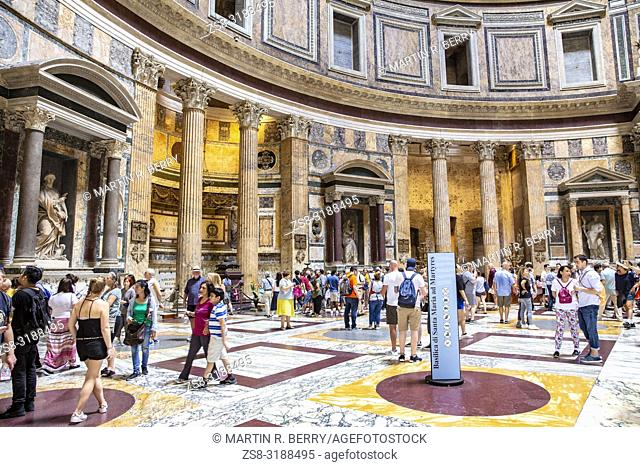 Interior of the Pantheon from ancient Rome,Lazio,Tuscany
