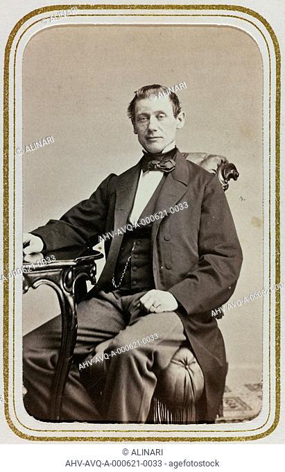 Portrait of the Swedish politician Carl Bohmansson (1814-1900), carte de visite, shot 1860-1870