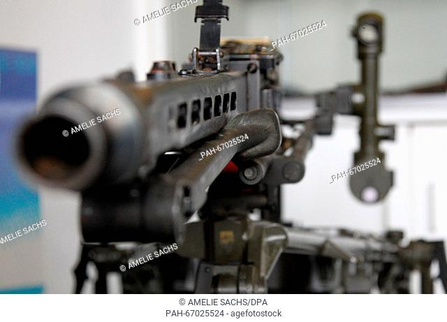 A replica of the machine gun 'MG 3' is on display at the weapons museum of the State Office of Criminal Investigations, in Munich, Germany, 02 March 2016