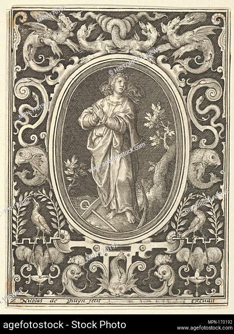 Hope, from the Cardinal Virtues. Series/Portfolio: Cardinal Virtues; Artist: Nicolaes de Bruyn (Netherlandish, Antwerp 1571-1656 Rotterdam); Publisher:...