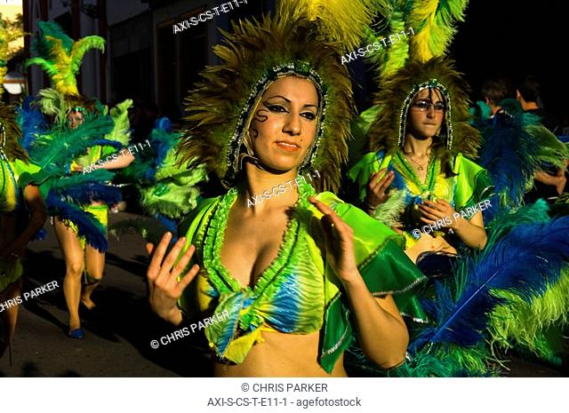 Women dancing at International Carnival of Puerto de la Crux in Gran Coso Apoteosis
