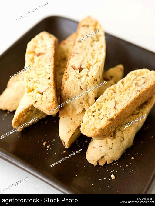 Cantucci alla veneta (Cornmeal almond biscuits, Italy)
