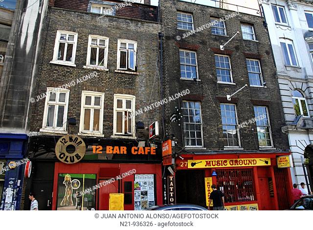 Denmark Street, where many musical instruments shops are located and an important spot for British  Pop and Rock Icons. West End
