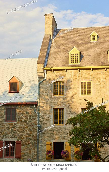 Vintage stone houses, Quebec old town, Quebec City, Canada