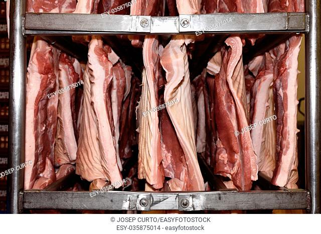 Pork meat industry (parts are Bacon)