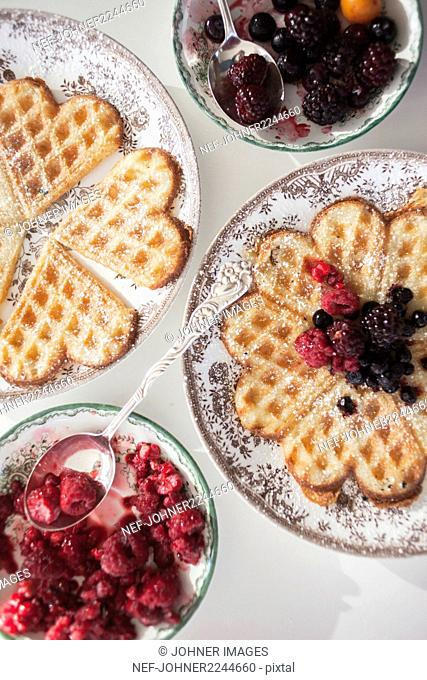 Berries and waffles