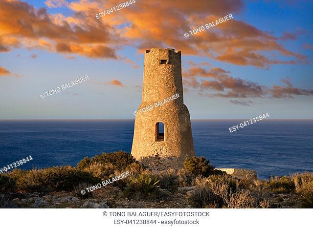 Torre del Gerro tower in Denia of Alicante Spain