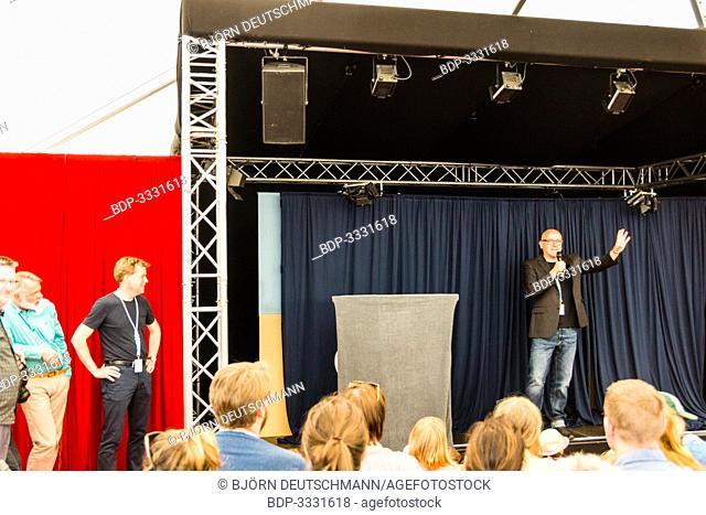 Kiel, Germany - June 23rd 2019: Opening of the Hoftheater im Park with the Lord Mayor of Kiel Mr. Ulf Kämpfer and Herr von Bödefeld