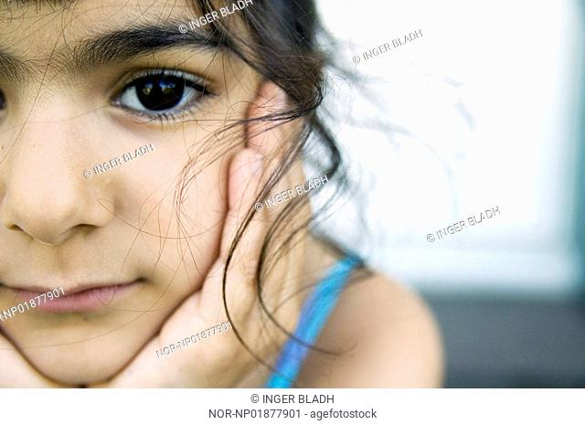 Portrait of a girl looking into the camera