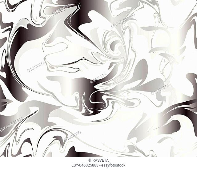 Marble silver texture seamless pattern. Trendy colors. Weddings, menus, invitations, birthday, business cards with a marble texture in fashionable colors