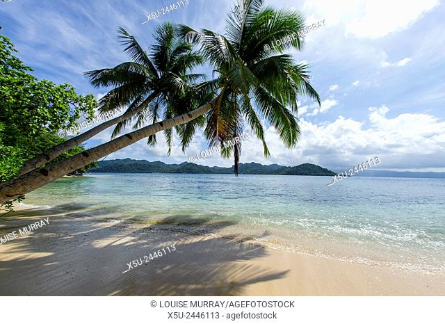 Tropical island beach at Matangi Island Resort, Fiji