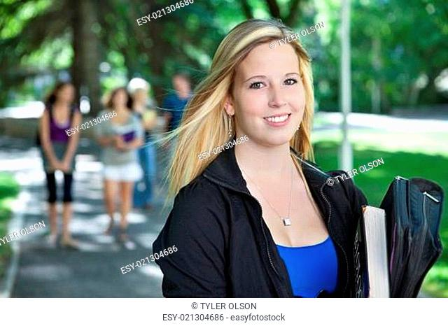 Young College Girl Portrait