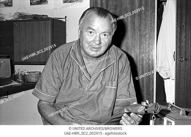 Der österreichische Lebenskünstler Poldi Waraschitz, Deutschland 1960er Jahre. Austran master of the art of living Poldi Waraschitz, Germany 1960s