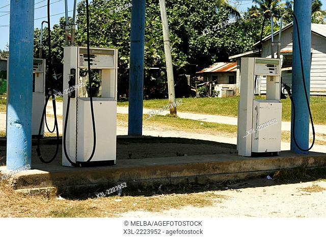 Old petrol station. Pangai. Lifuka island. Haapai islands, Tonga. Polynesia