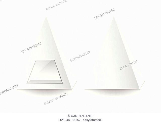 3d pyramid package, box, product design,Vector illustration