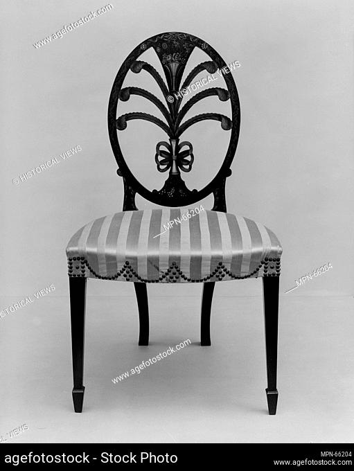 Pair of side chairs. Date: 1795-1800; Geography: Made in Philadelphia, Pennsylvania, United States; Culture: American; Medium: Painted maple with white pine;...