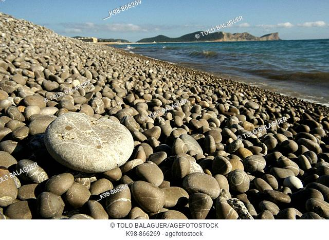 Platja des Codolar beach, Ses Salines Natural Park, Ibiza. Balearic Islands, Spain
