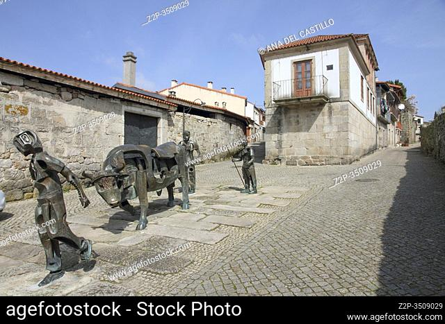 Sculptures in Allariz town Ourense, Galicia Spain