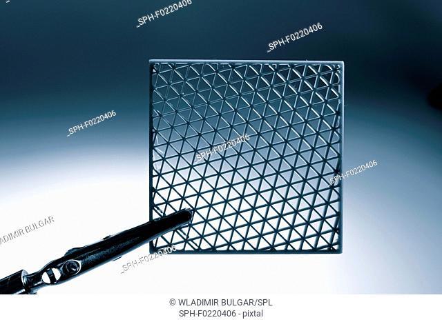 Metamaterial sample made on 3D printer