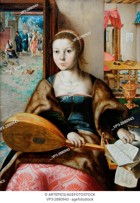 Jan Sanders van Hemessen - Maria Magdalena with Christ Background with Martha - XVI th Century - German School - Gemäldegalerie - Berlin