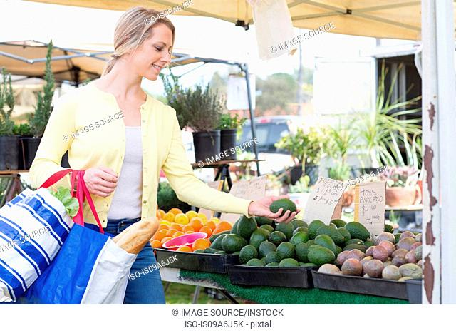 Woman shopping at farmer's market