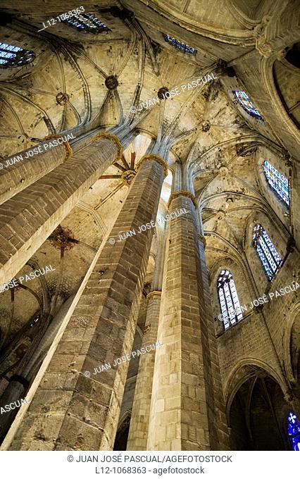 Santa María del Mar Church, Barcelona, Catalonia, Spain