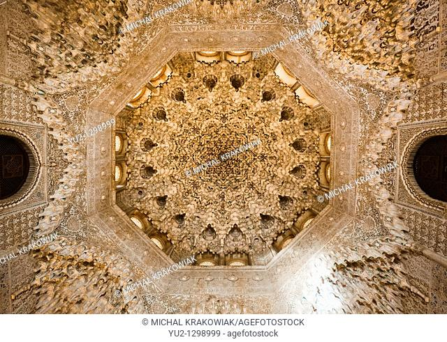 Ornate arch in Alhambra Granada, Spain