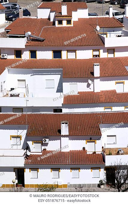 Packed house concentration in Mertola town, Portugal