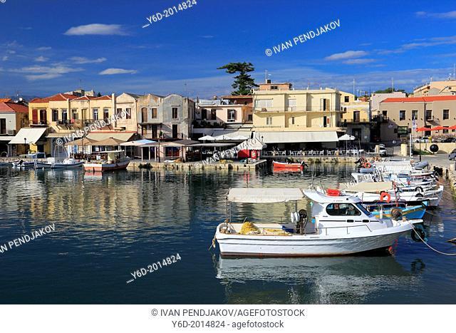 Rethymno Venetian Harbour, Crete, Greece