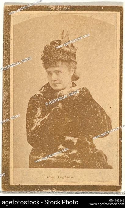 Rose Coghlan, from the Actresses and Celebrities series (N60, Type 2) promoting Little Beauties Cigarettes for Allen & Ginter brand tobacco products