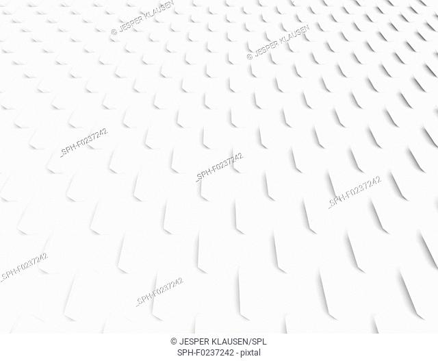 Abstract white geometric, illustration