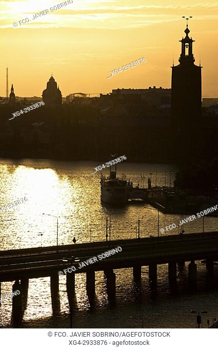 Sunset. Stockholm. Sweden. Scandinavia