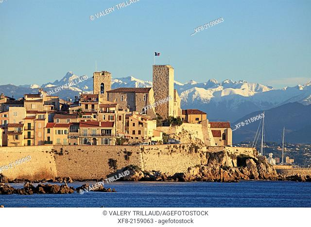 The city of Antibes, Alpes-Maritimes, French Riviera, Côte dAzur, Provence-Alpes-Côte d'Azur, France
