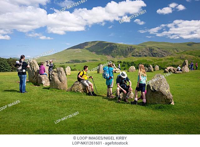 Castlerigg stone circle in summer