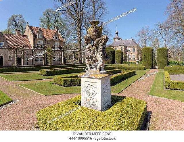The garden of Bouvigne castle