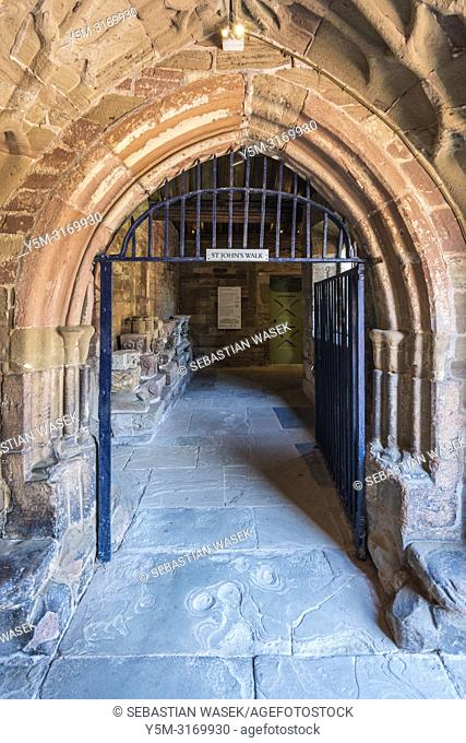 St John's Walk at Hereford Cathedral, Herefordshire, England, United Kingdom, Europe