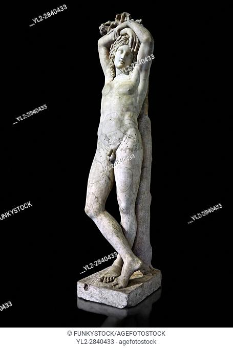 Statue of Narcissus known as The Marazin Hermaphrodite or The Genie at Eternal Rest - a 3rd century AD Roman marble statue