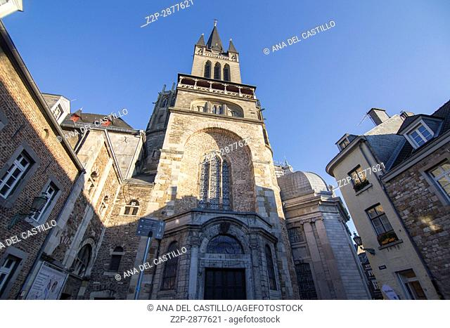 Aachen cathedral is world heritage site, on Dec 5, 2016 in Aachen, Germany