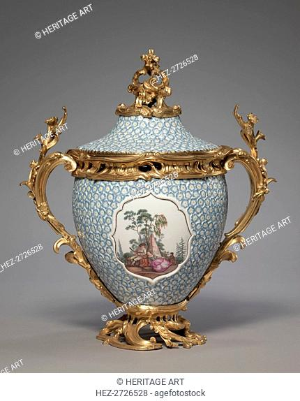 Covered Vase (2 of 2), mid-1700s. Creator: Meissen Porcelain Factory (German)