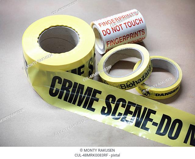 Close up of crime scene tape