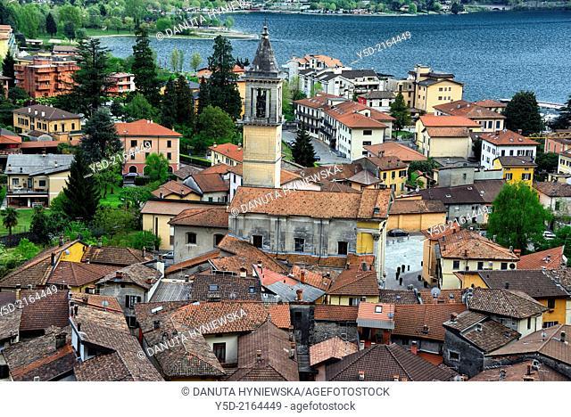 Porlezza town on Lake Lugano, Province of Como, Lombardy, Italy