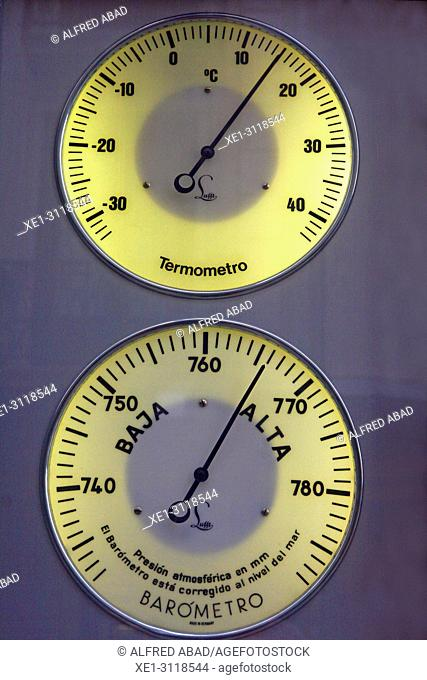 thermometer and barometer, Pamplona, Navarra, Spain