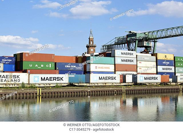 Dortmund, D-Dortmund, Ruhr area, Westphalia, North Rhine-Westphalia, NRW, Dortmund Port at the Dortmund-Ems Canal, inland harbour, container terminal