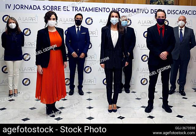 Queen Letizia of Spain attends 4rd Conference on Information Treatment of Disability at Headquarters of the Madrid Press Association on October 20