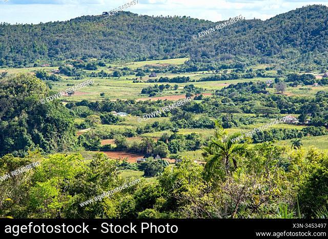 Farmland tucked away in Vinales Valley , Vinales, Cuba
