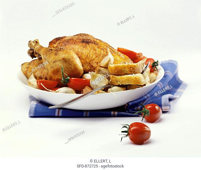 Roast garlic chicken