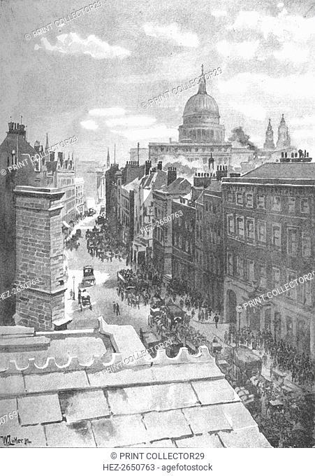 'Aldersgate Street', 1891. Artist: William Luker